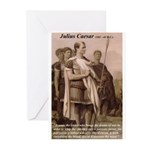 Julius Caesar Pictures Quotes Greeting Cards (Pack