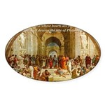 Raphael School of Athens Oval Sticker