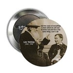 Leo Tolstoy: God Quotes 2.25&quot; Button (10 pack)