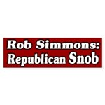 Rob Simmons Republican Snob bumper sticker
