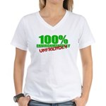 100% Environmentally Unfriend Women's V-Neck T-Shi