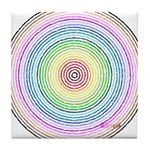 Rainbow Kaleidoscope Tile Coaster