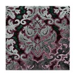 Silver Damask Tile Coaster