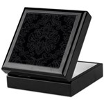 Black Gothic Damask Keepsake Box