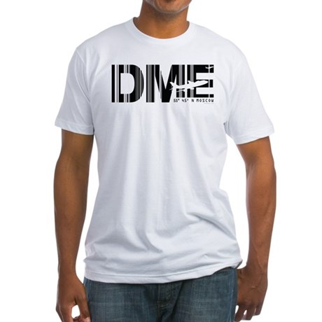 Moscow DME Russia Airport Fitted T-Shirt