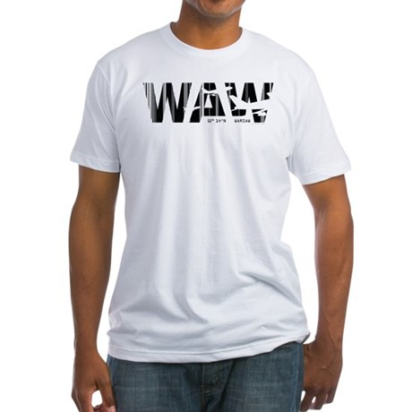 Warsaw Poland WAW Air Wear Airport Fitted T-Shirt