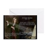 Sir Isaac Newton: Gravity Greeting Cards (Package