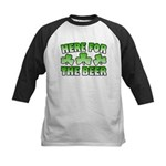 Here for the Beer Shamrock Kids Baseball Jersey