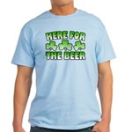 Here for the Beer Shamrock Light T-Shirt