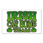 Irish Car Bomb Team Shamrock Rectangle Sticker