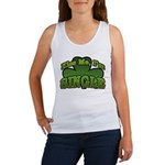 Kiss Me I'm Single Shamrock Women's Tank Top