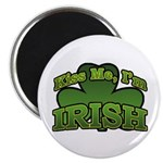 "Kiss Me I'm Irish Shamrock 2.25"" Magnet (100 pack)"