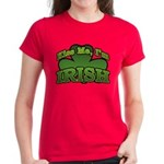 Kiss Me I'm Irish Shamrock Women's Dark T-Shirt