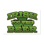 Irish You Were Beer Shamrock Mini Poster Print