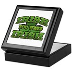 Irish You Were Irish Shamrock Keepsake Box