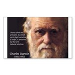 Charles Darwin: Evolution Rectangle Sticker
