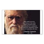 Charles Darwin: God Creation Rectangle Sticker