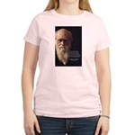 Charles Darwin: God Creation Women's Pink T-Shirt