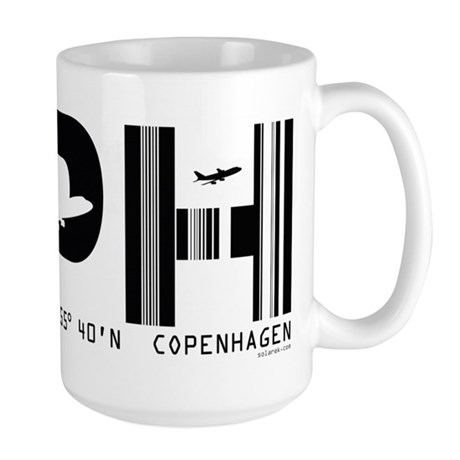 Copenhagen Denmark CPH Air Wear Large Mug