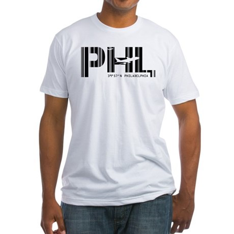 Philadelphia PHL Air Wear Fitted T-Shirt