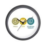 Peace Love Occupational Therapy Wall Clock
