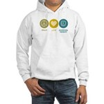 Peace Love Occupational Therapy Hooded Sweatshirt