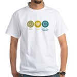 Peace Love Occupational Therapy White T-Shirt