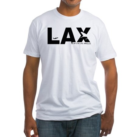 Los Angeles LAX Airport Code Black Fitted T-Shirt