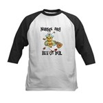Nurses Are Bee-utiful Kids Baseball Jersey