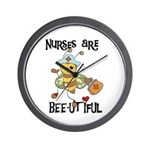 Nurses Are Bee-utiful Wall Clock