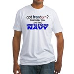 Got Freedom? NAVY (Son) Fitted T-Shirt