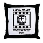 Occupational Therapy Stunts Throw Pillow