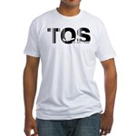 Tromso Airport Code Norway TOS Fitted T-Shirt