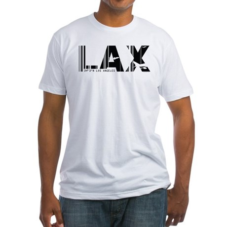 Los Angeles LAX Airport Code Fitted T-Shirt