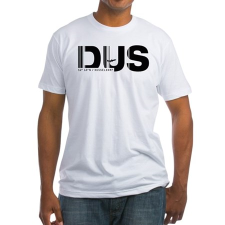 Dusseldorf Airport Code Germany DUS Fitted T-Shirt