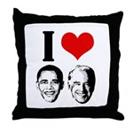 I Heart Obama Biden Throw Pillow