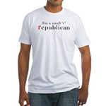 Small r republican Fitted T-Shirt