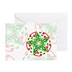 Celtic Christmas Star Greeting Card
