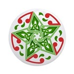 Celtic Christmas Star Ornament (Round)