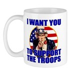 Support the Troops Uncle Sam Mug