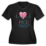 PICU Keeping the beat all day Women's Plus Size V-