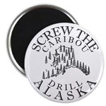 "Screw Caribou (Drill Alaska) 2.25"" Magnet (100 pac"