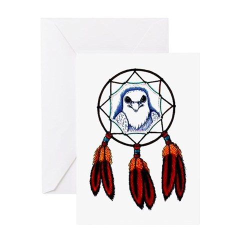 Hawk Dreamcatcher Tattoo Greeting Card