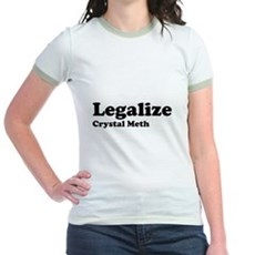 I Love Crystal Meth Jr Ringer T-Shirt