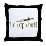 Funny Phlebotomy & Nursing Throw Pillow