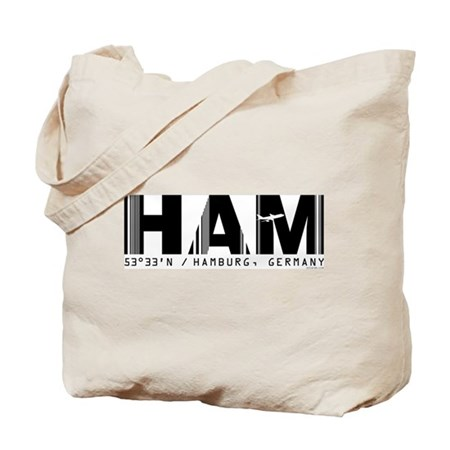 Hamburg Airport Code Germany HAM Tote Bag