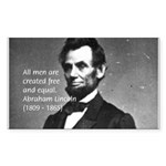 Abraham Lincoln Rectangle Sticker