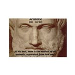 Greek Philosophers: Aristotle Rectangle Magnet