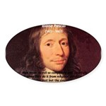 Mathematician: Blaise Pascal Oval Sticker