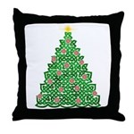 Celtic Christmas Tree Throw Pillow